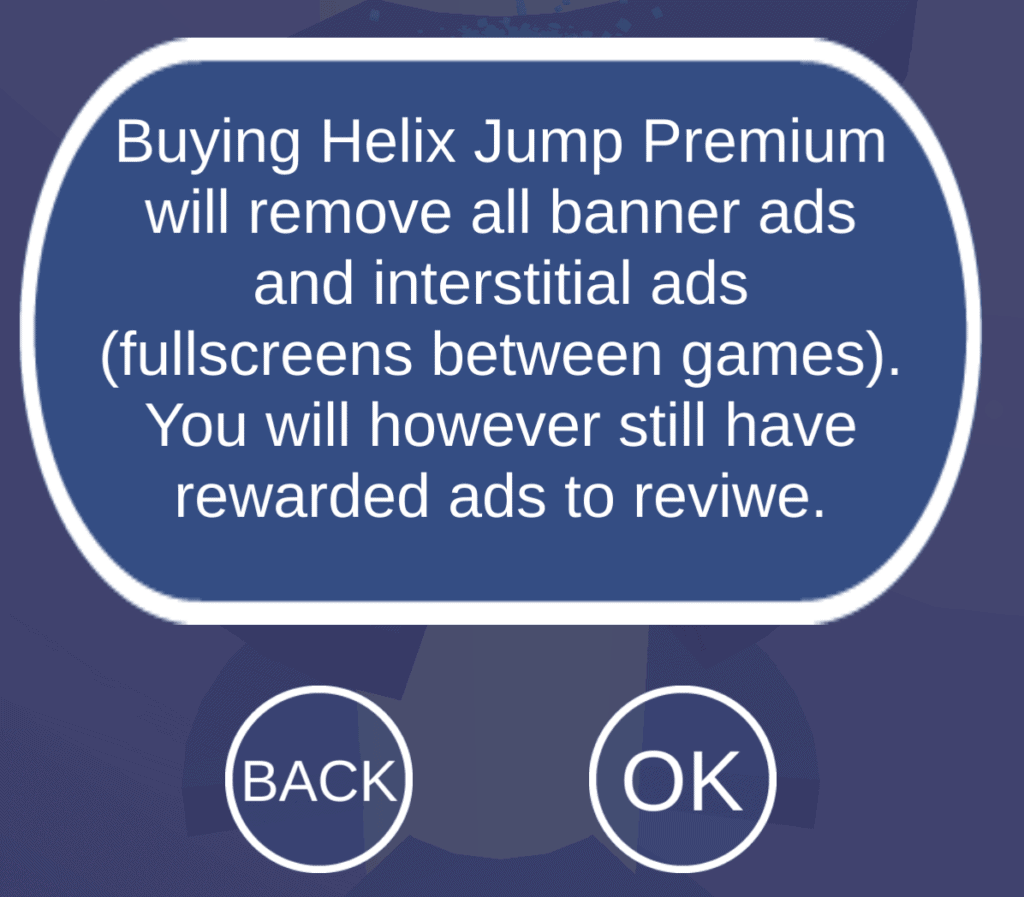 The Premium subscription in Helix Jump. You can pay to remove ads.