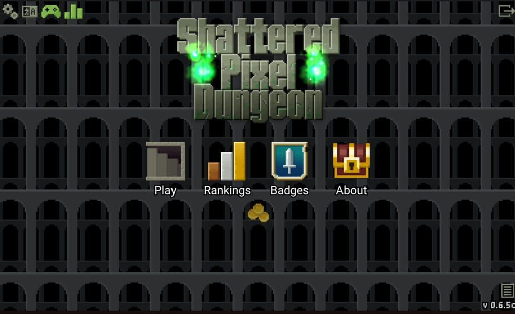 Shattered Pixel Dungeon title screen