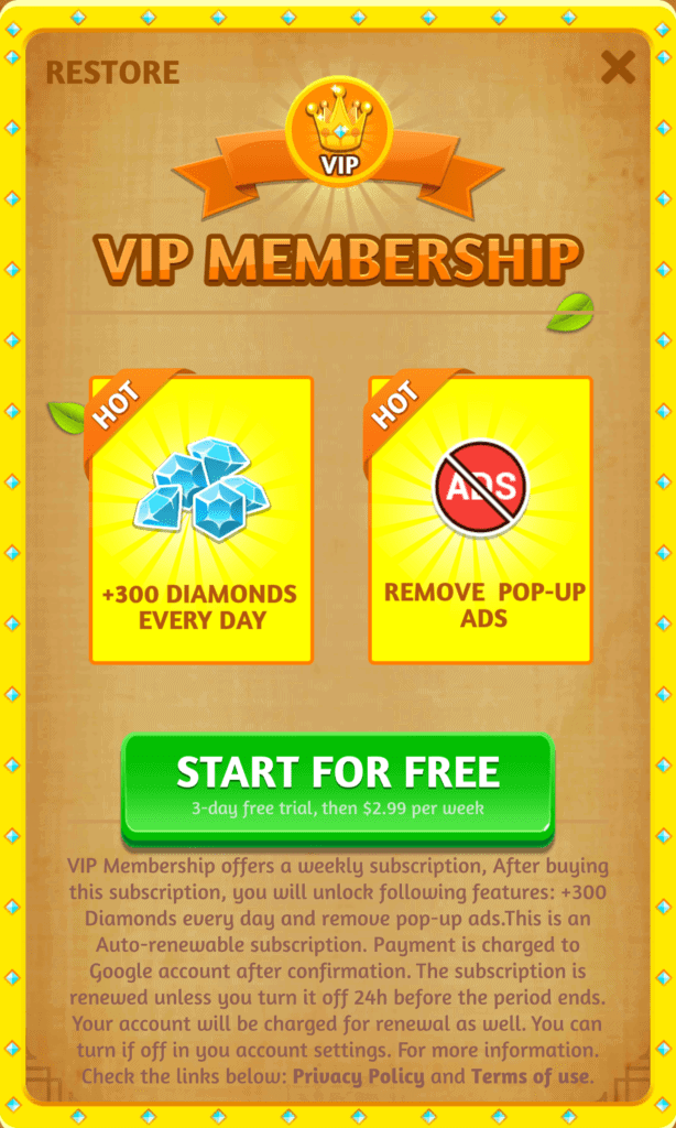 Word Link VIP Membership Information