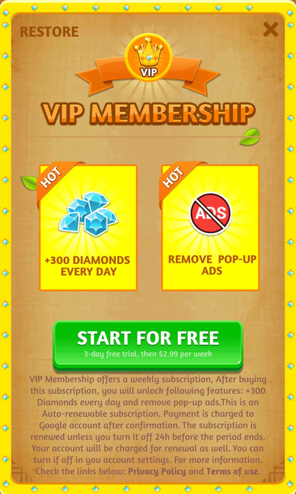 Word Link VIP Membership Information