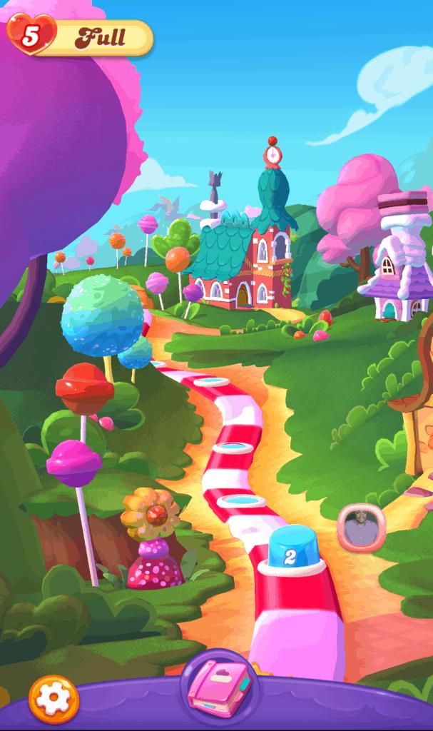 The Candy Crush Friends Saga world map.