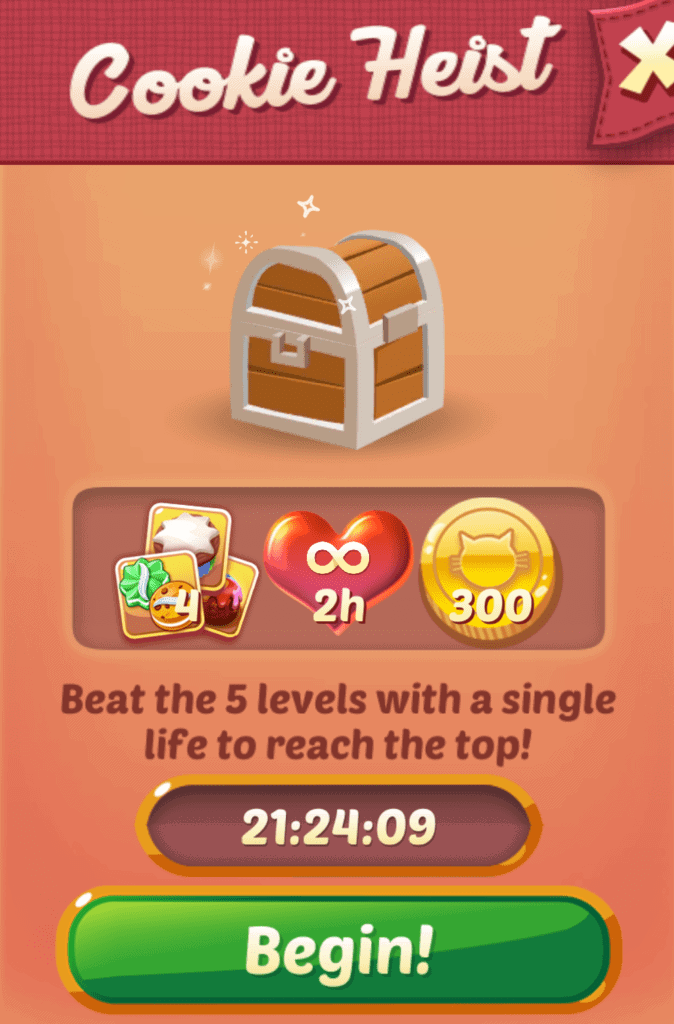 The Cookie Cats Cookie heist event.