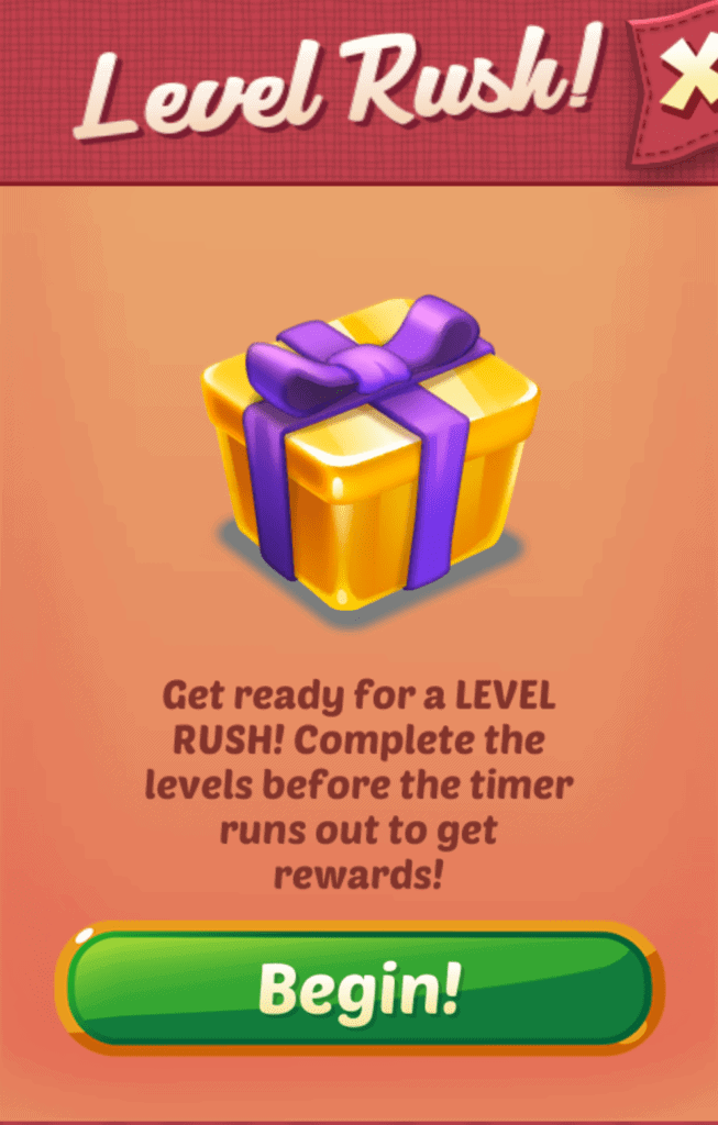 The level rush event in Cookie Cats.