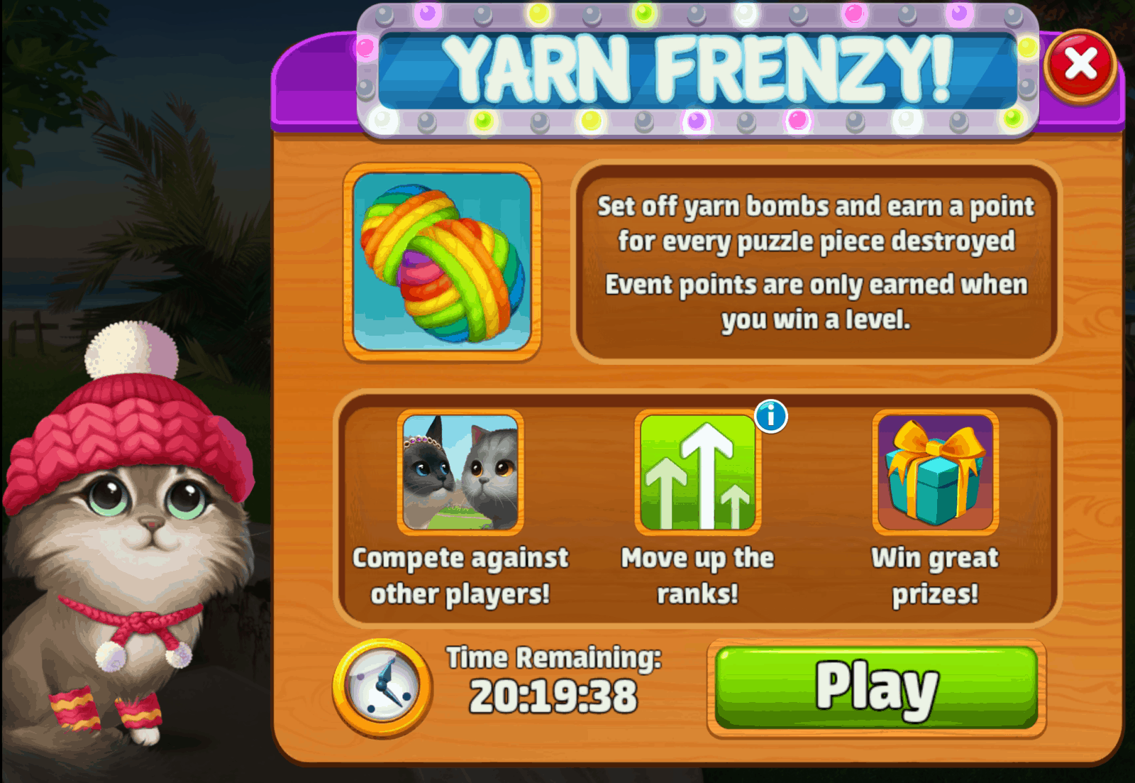 The Yarn Frenzy Event in Meow Match.
