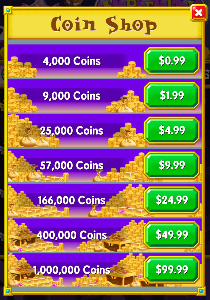 The Spell Blitz store. You can buy coins.