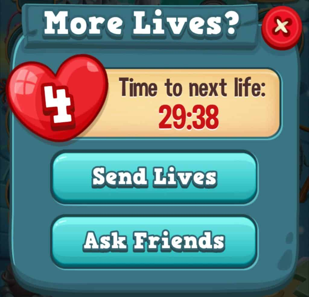 The Toy Blast life timer. You have to wait 30 minutes before regaining lives.