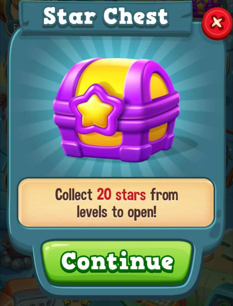 The Toy Blast star chest. You need to collect 20 stars to open the chest.