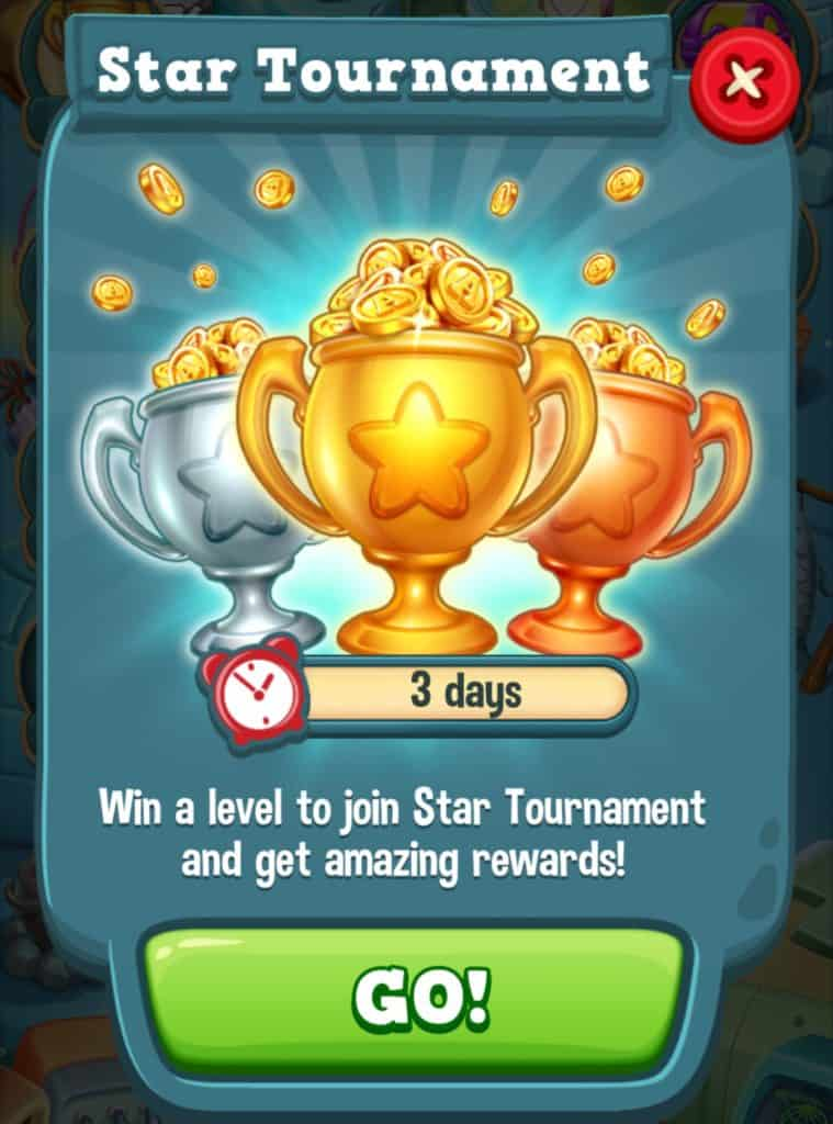 Toy Blast Star Tournament. You need to beat levels and get stars.