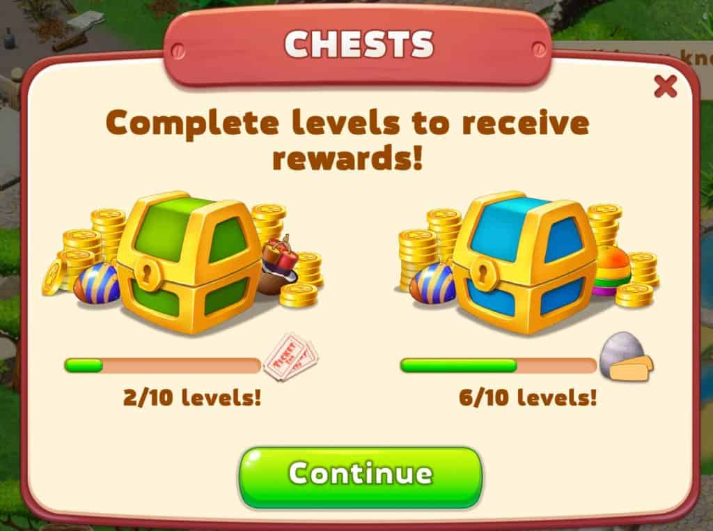 You earn rewards after beating ten levels in Family Zoo: The Story.