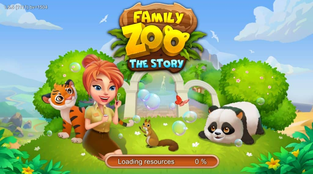 Family Zoo: The Story loading screen.