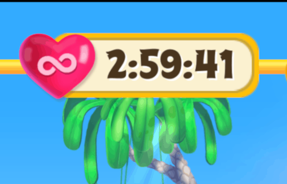 2:59:41 of time of unlimited time in Angry Birds Match.