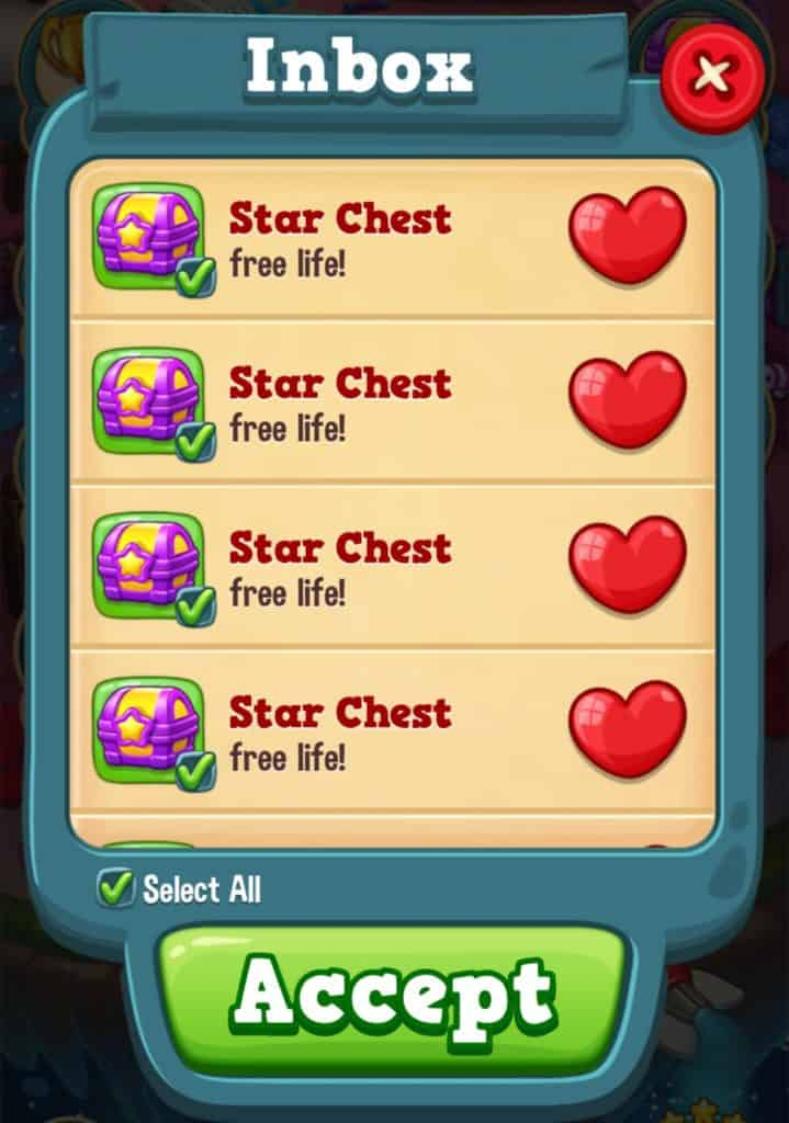 Extra lives from Star chests. These extra lives are stored in the inbox.