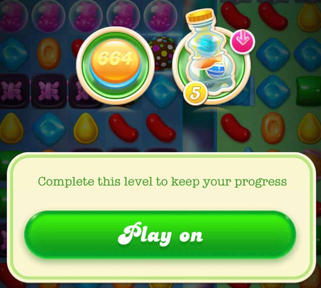 A annoying message the game shows you when you want to quit levels.