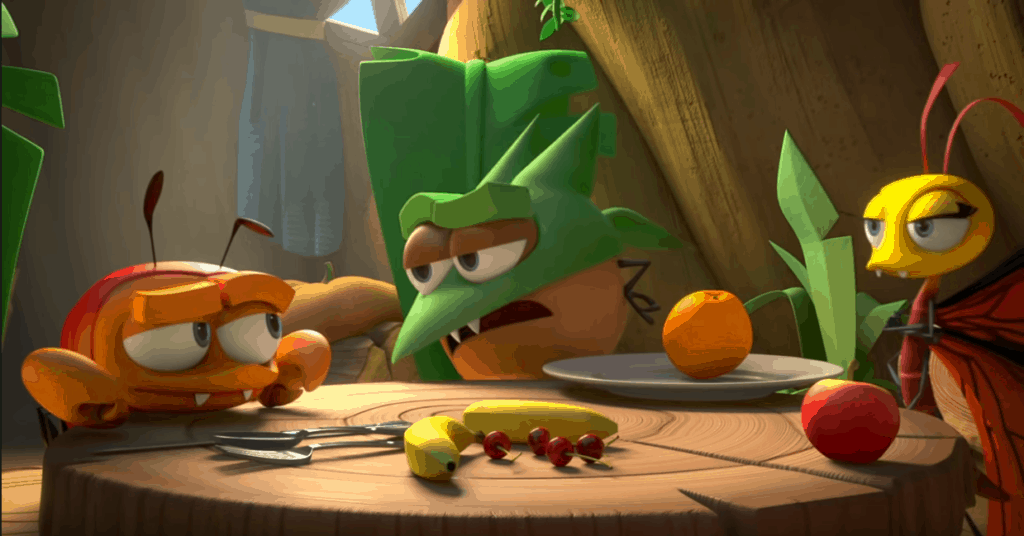 A screen shot of YouTuvbe video Temper's Adventure - A Best Fiends Animation.
