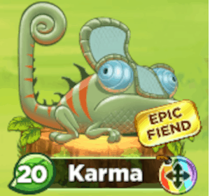 This is the epic fiend Karma. He is level 20.