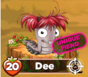 The fiend Dee. She is an unique level 20 fined.