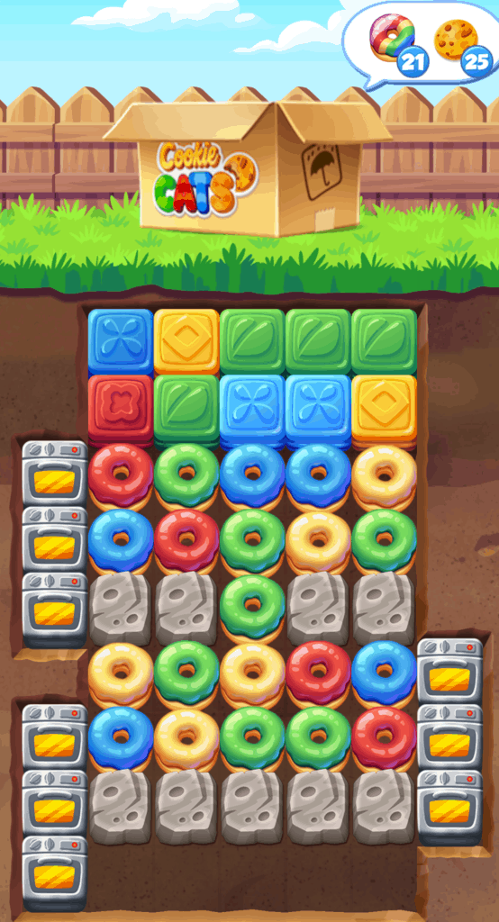 A Cookie Cats level.