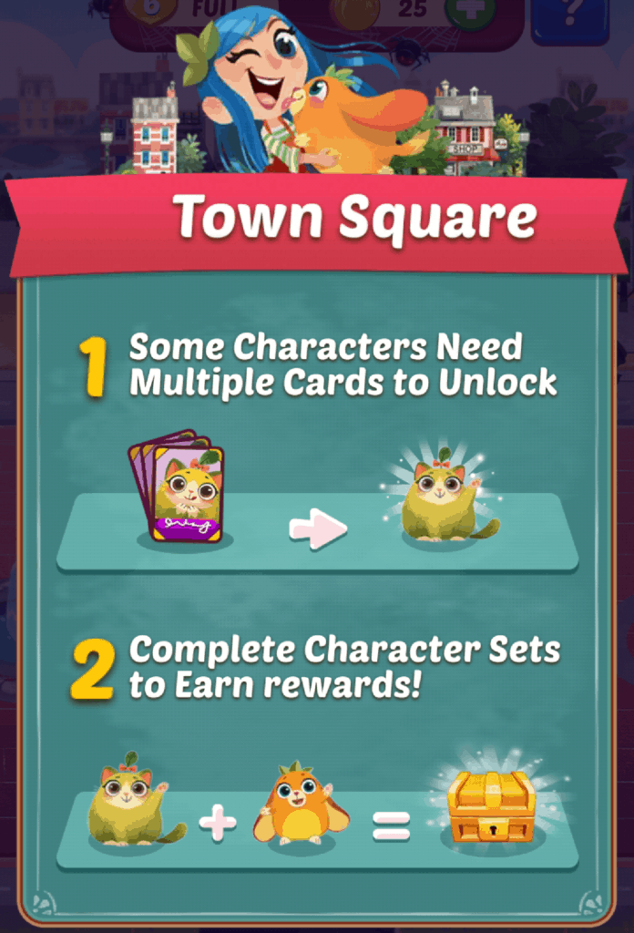 The Juice Jam town square information screen.
