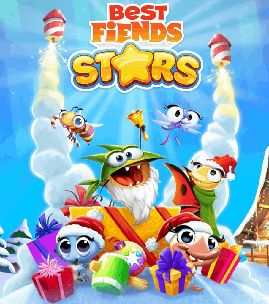The Best Fiends Stars loading screen. Multiple fiends are shown.