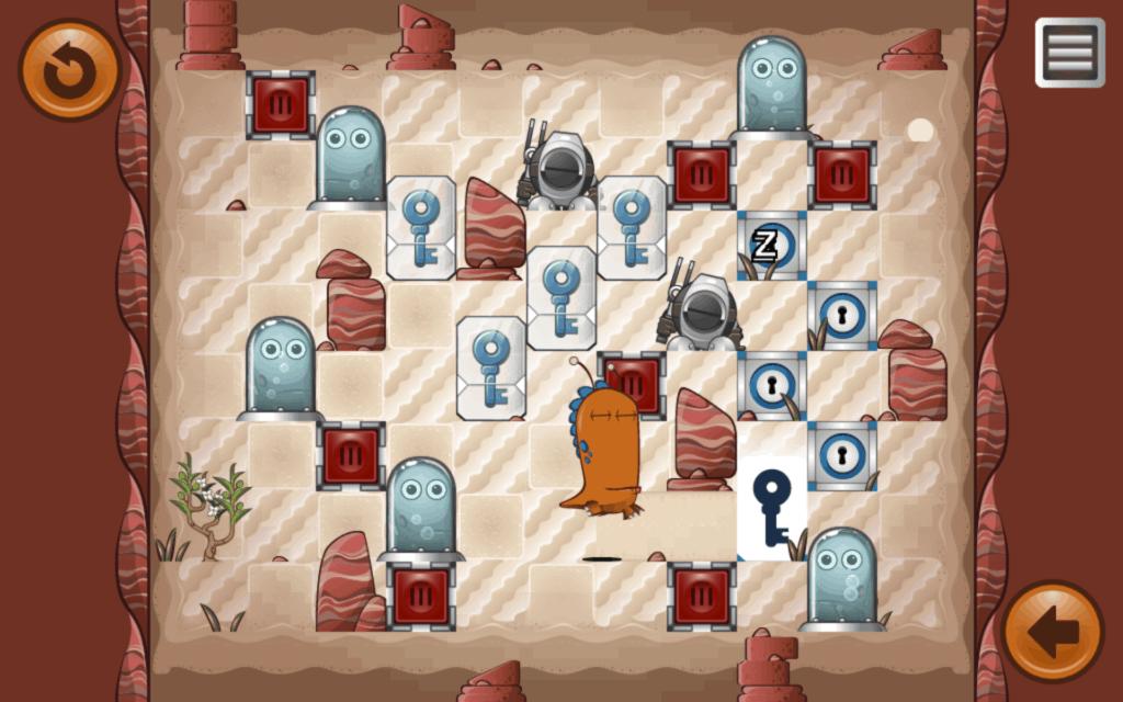 A desert themed level.