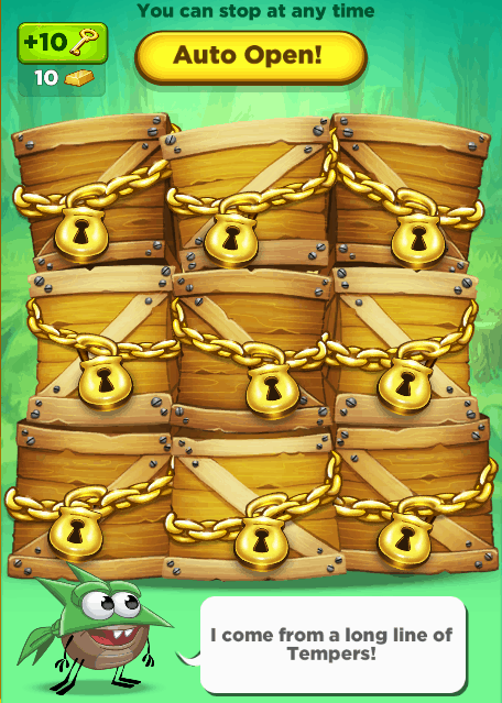 Best Fiends crates. You use keys to open them.