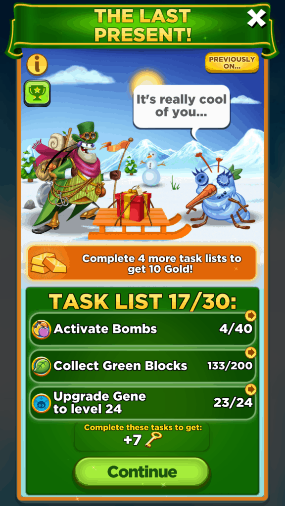 This is a Best Fiends Seasonal event.