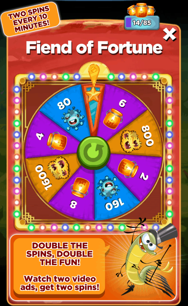 The Best Fiends Wheel of Fortune.