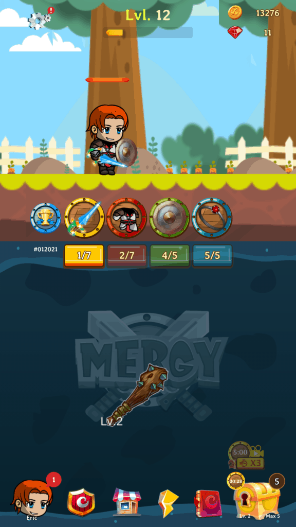 The main screen you see in Mergy.